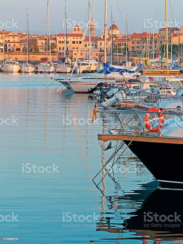 boats in Alghero royalty-free stock photo