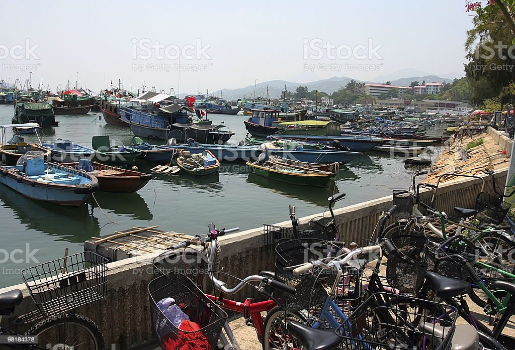 Boats in Cheung Chau. Hong Kong. royalty-free stock photo