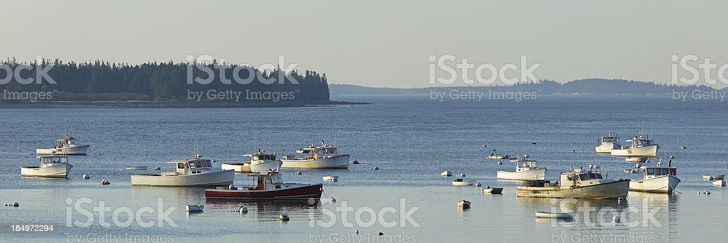Boats in Harbor royalty-free stock photo