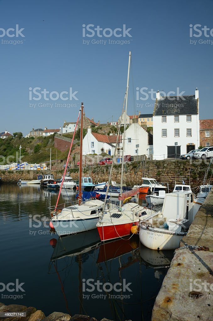 Boats in Harbour stock photo