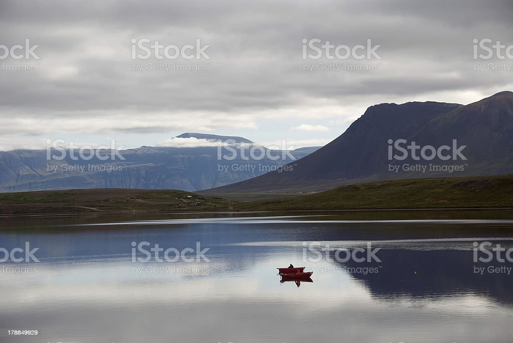 boats in Iceland royalty-free stock photo