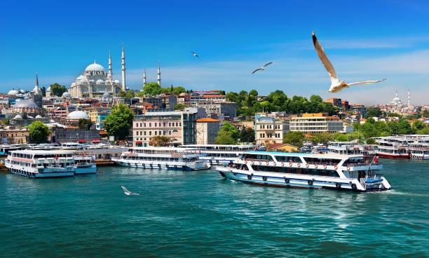 boats in istanbul - стамбул стоковые фото и изображения