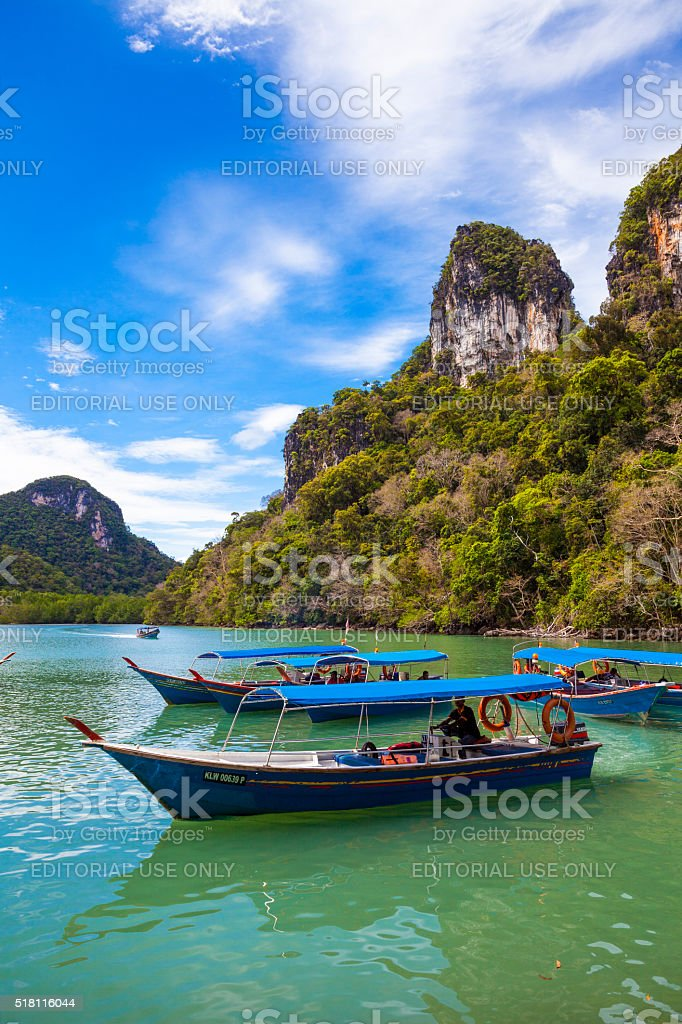 Boats in Langkawi, Malaysia stock photo