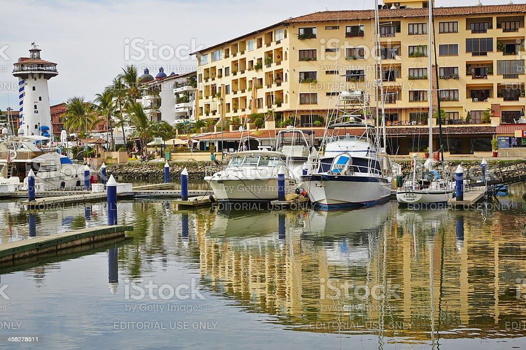 Boats in Marina, Puerto Vallarta, Mexico royalty-free stock photo