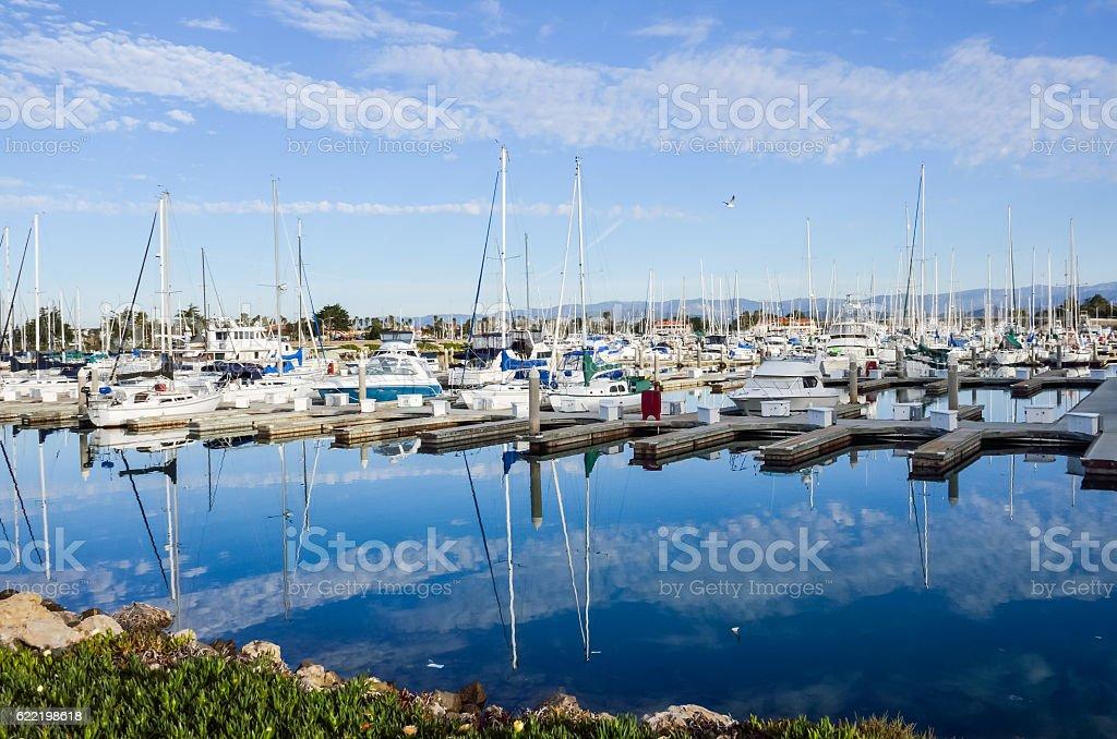 Boats in Oxnard, California stock photo