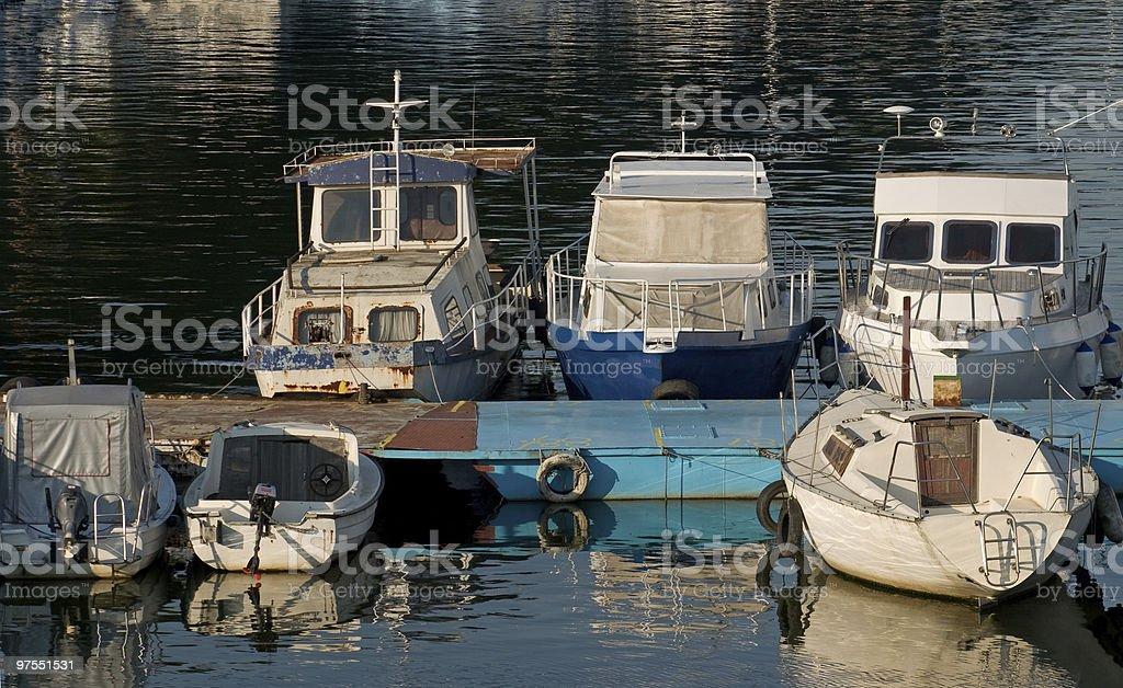 Bateaux à quai n ° 2 photo libre de droits