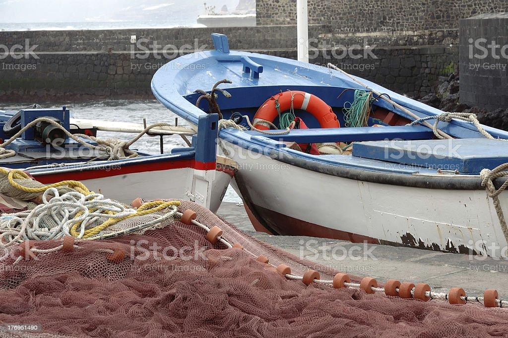 Boats in Puerto de la Cruz, Tenerife stock photo