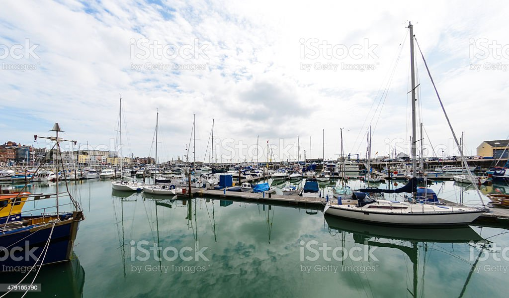 Boats in Ramsgate stock photo
