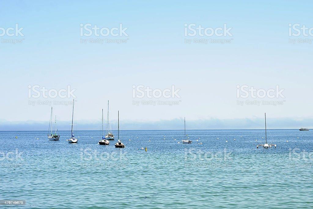 Boats in Santa Cruz California stock photo