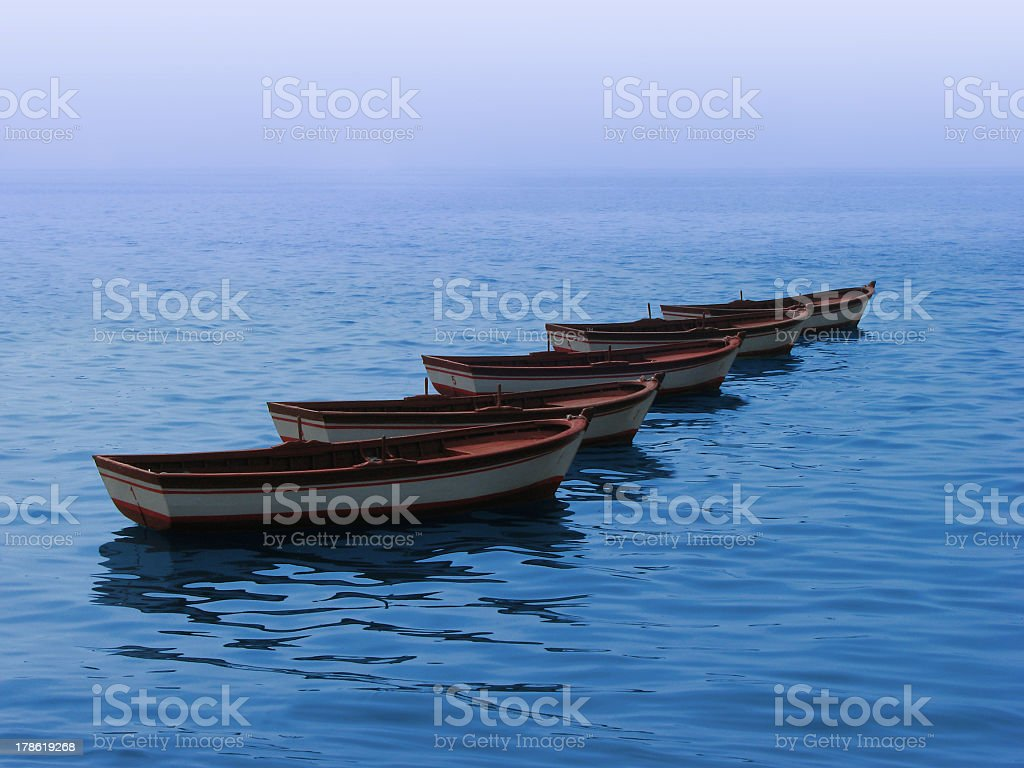 Boats in sequence royalty-free stock photo