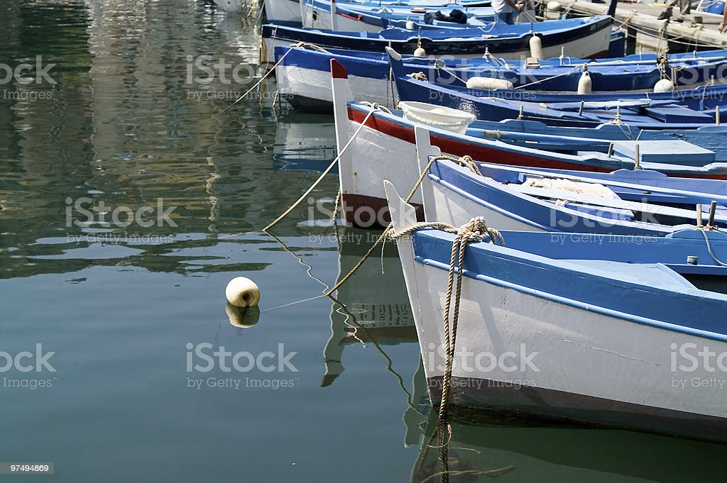 boats in the docks royalty-free stock photo