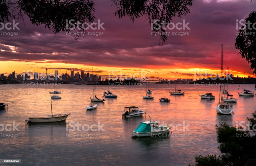 Boats in the harhor stock photo