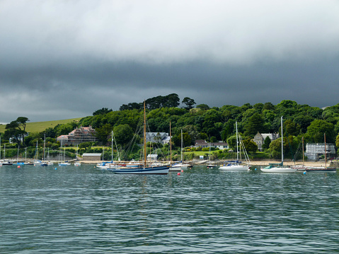 Boats in the Helford river