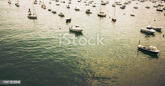 1127346848 istock photo Boats in the sea 1097353958