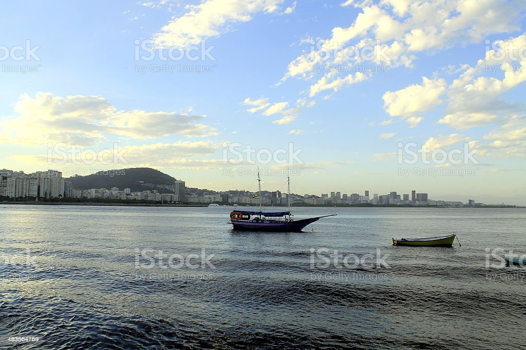 Boats in the sea royalty-free stock photo