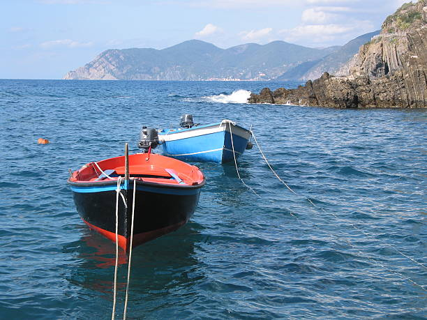 Boats in the sea - Summer stock photo