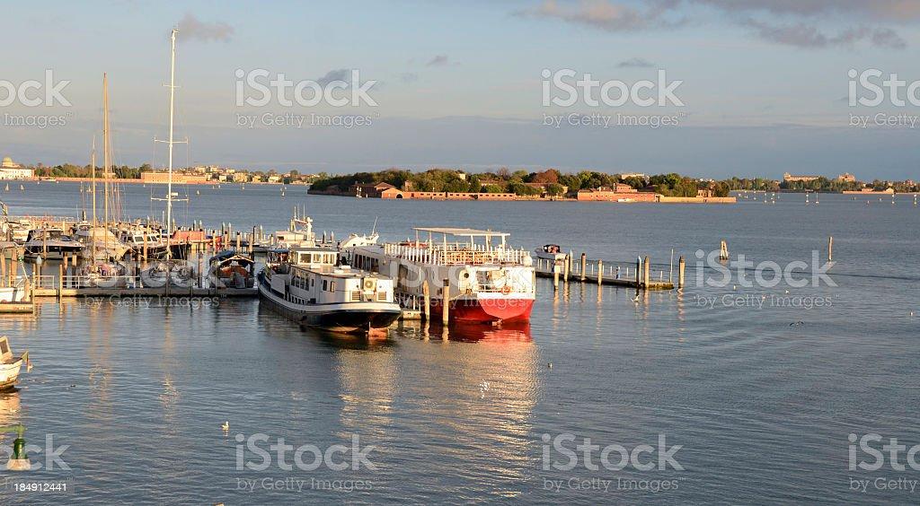 Boats in Venice Marina royalty-free stock photo