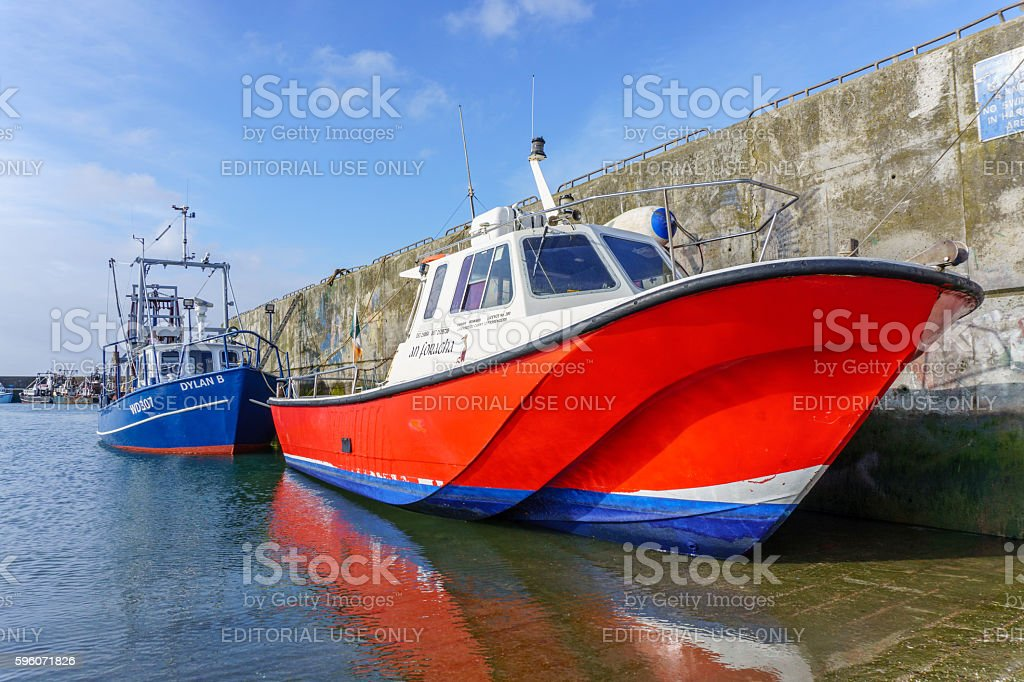 Boats moored in harbour at Kilmore Quay in Ireland royalty-free stock photo