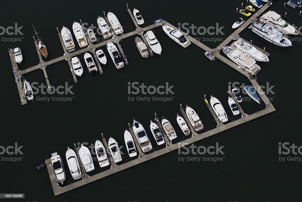 Boats moored No 2 royalty-free stock photo
