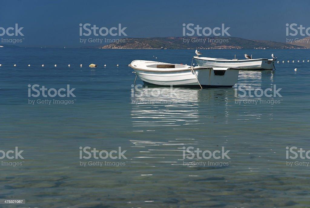 Boats on Adriatic Sea stock photo