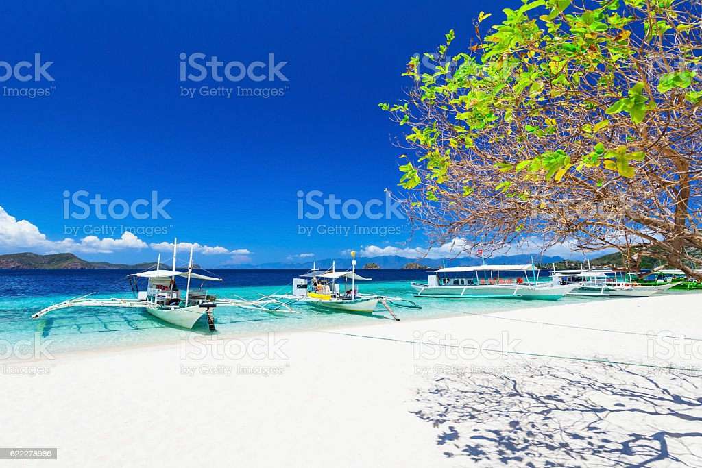 Boats on beach stock photo