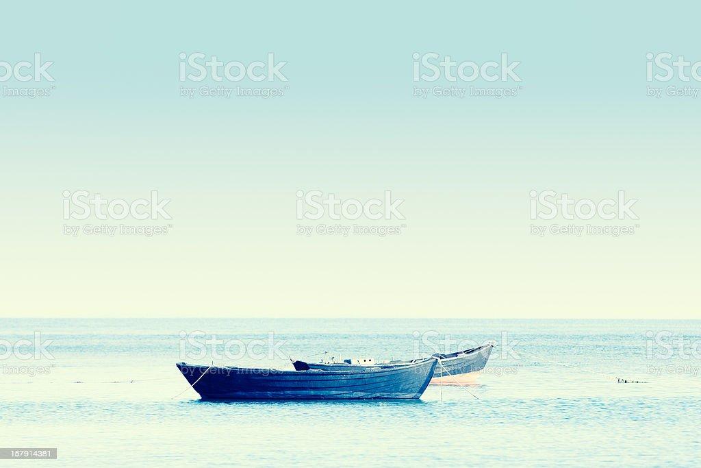 Boats on Lake royalty-free stock photo