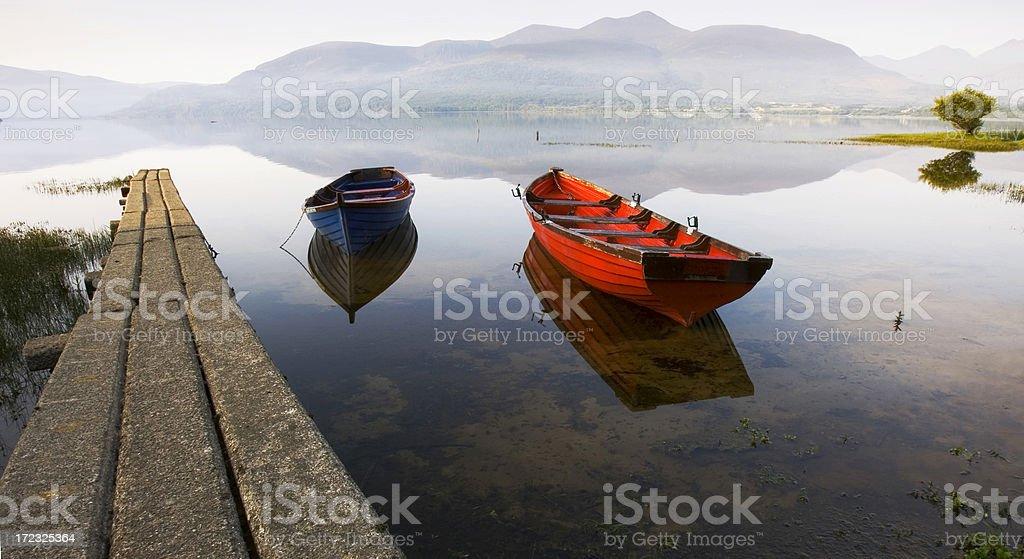 Boats on Lough Leane stock photo