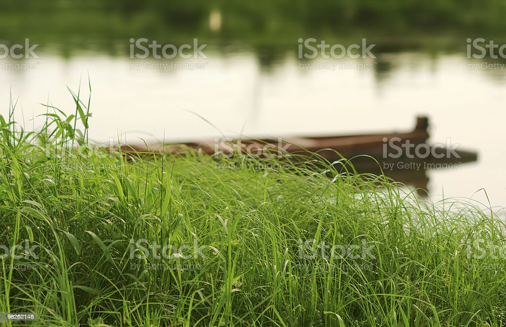 Boats on river royalty-free stock photo