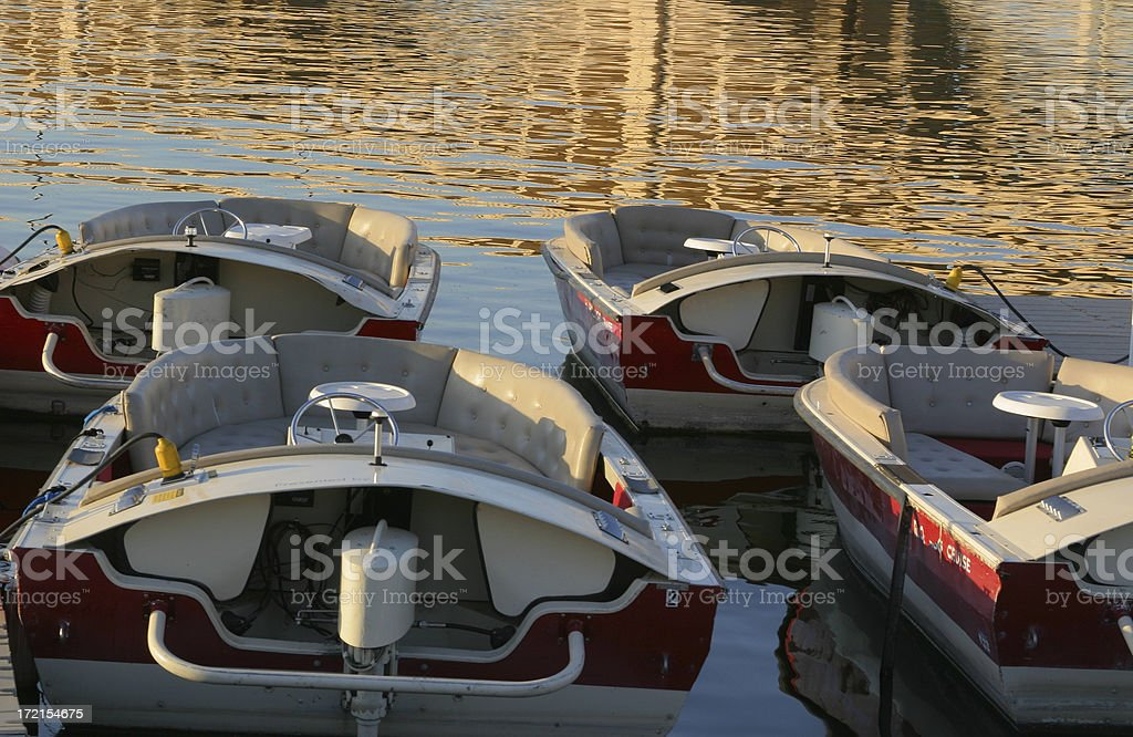 Boats on Tempe Town Lake stock photo