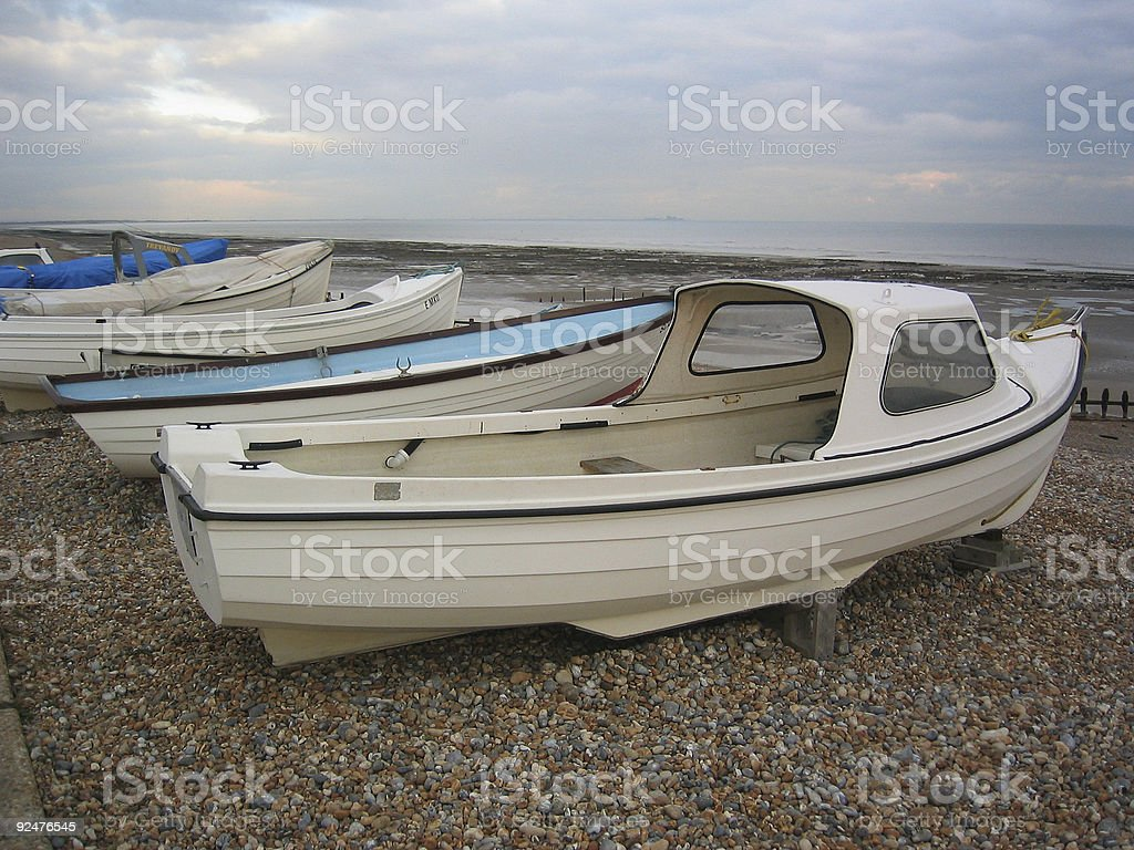 Boats on the coast - Rye, Sussex royalty-free stock photo