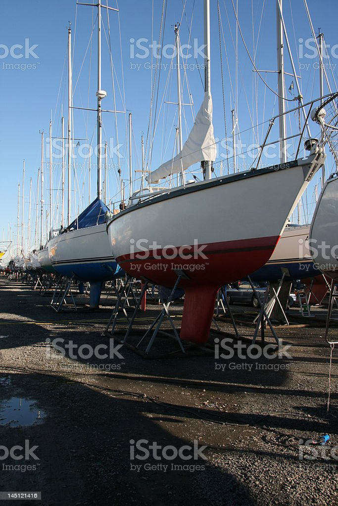 Boats on the dry royalty-free stock photo