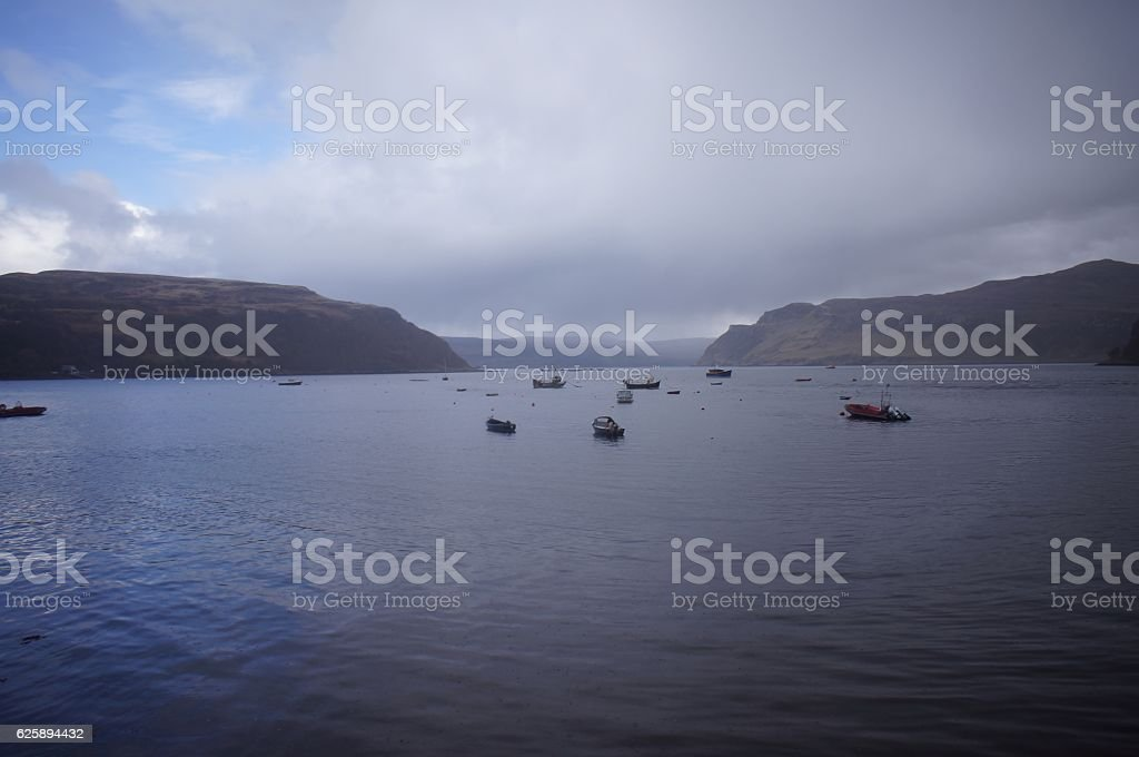 Boats on the Lake stock photo