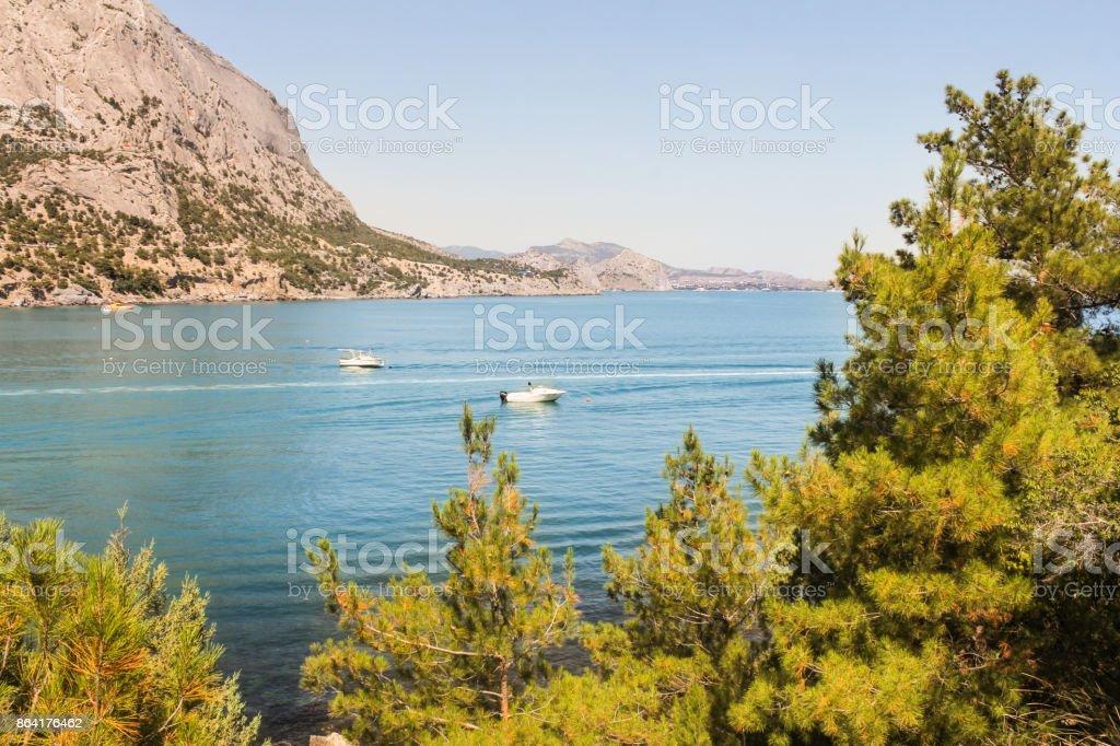 Boats on the sea. royalty-free stock photo