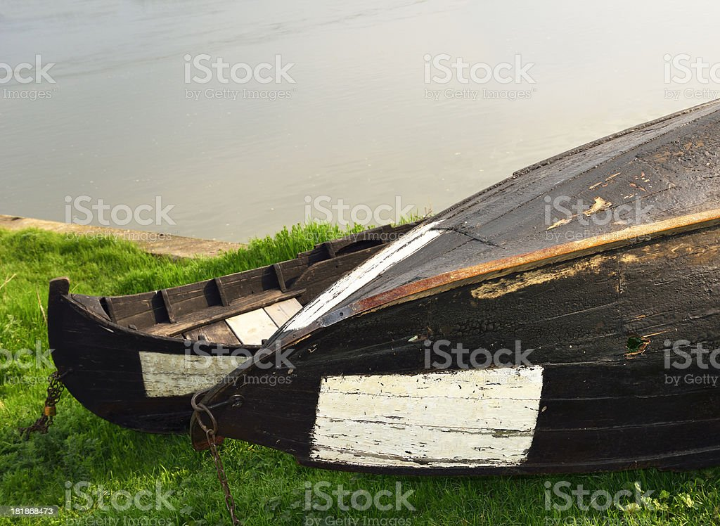Boats on the shore royalty-free stock photo