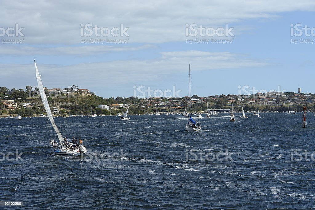 Boats on the Swan River. royalty-free stock photo