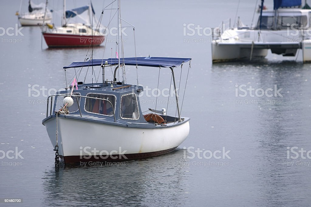 Boats on the water royalty-free stock photo