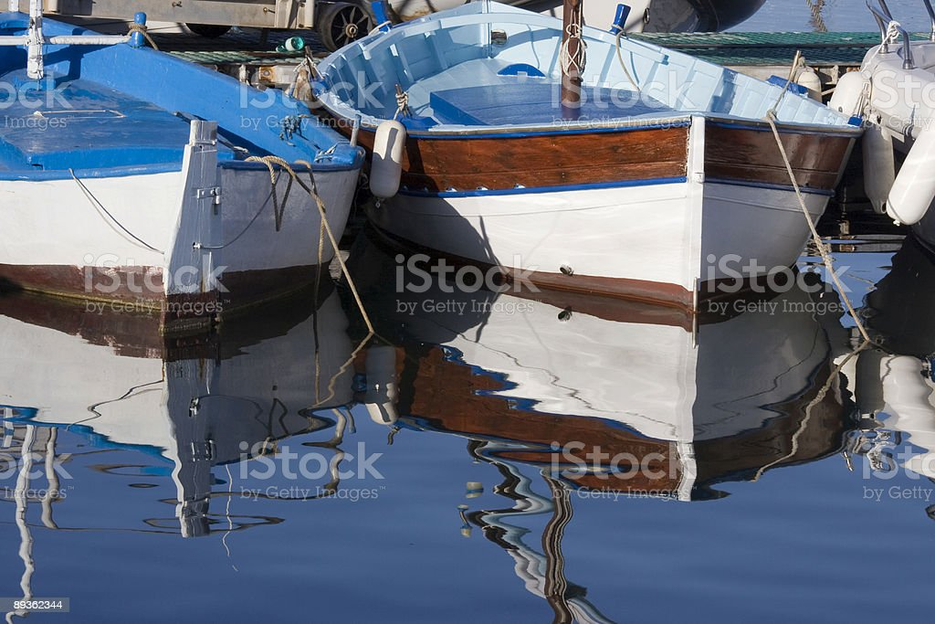 Boats reflaction royalty-free stock photo