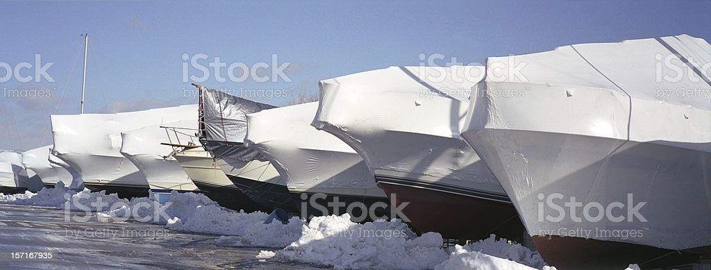boats under cover royalty-free stock photo