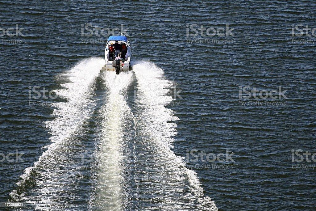 Boats Wake royalty-free stock photo