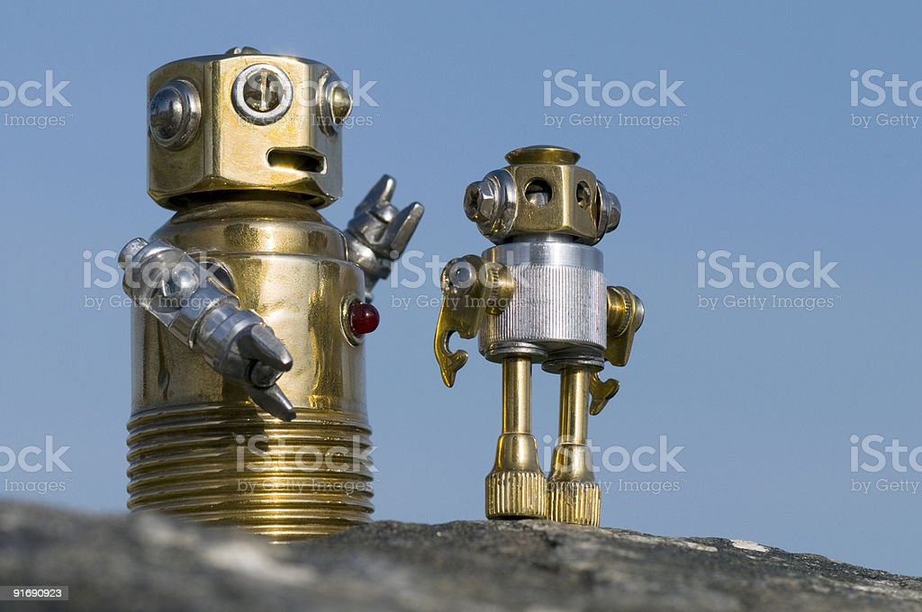 Bob and BabyBob royalty-free stock photo