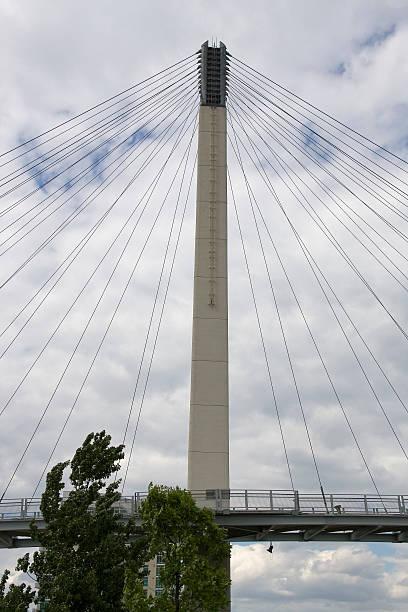 Bob Kerrey Pedestrian Bridge stock photo