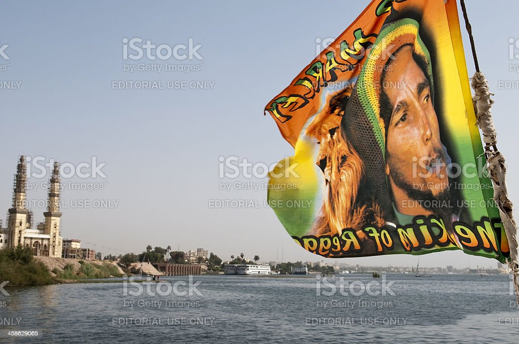 Bob Marley drapeau en Égypte - Photo