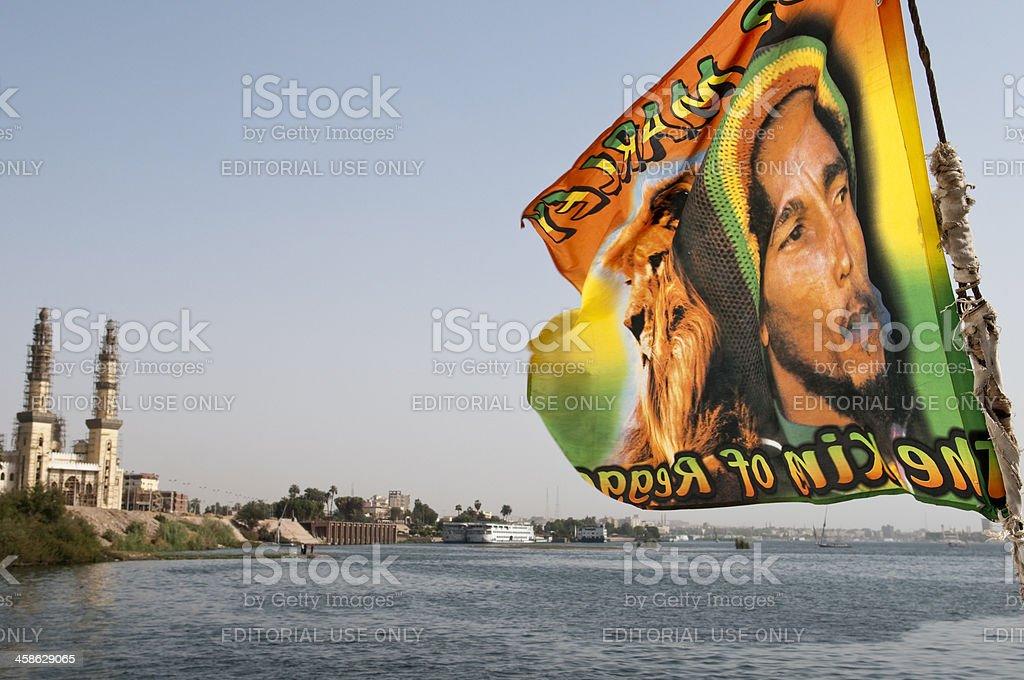 Bob Marley flag in Egypt foto