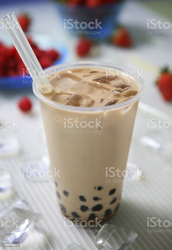 Boba Milk Tea stock photo