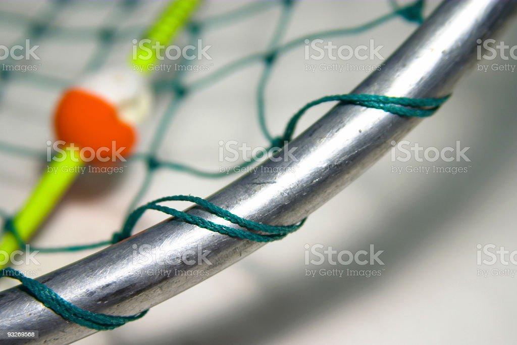 Bobber and Landing Net royalty-free stock photo