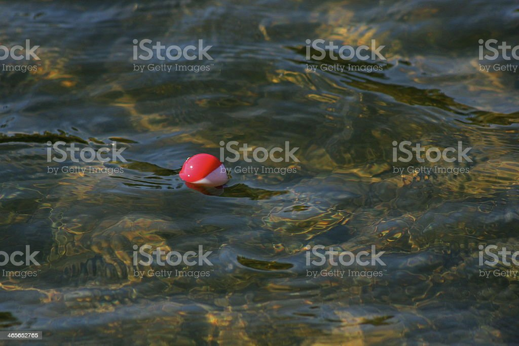 Bobber in water royalty-free stock photo