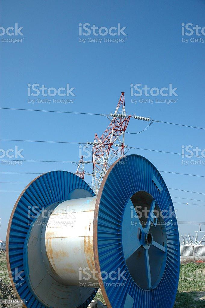 bobbin and pylon royalty-free stock photo