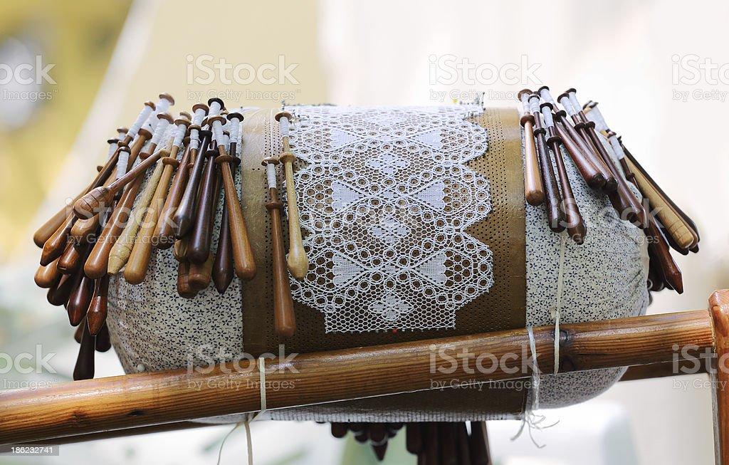 Bobbin Lace Equipment stock photo