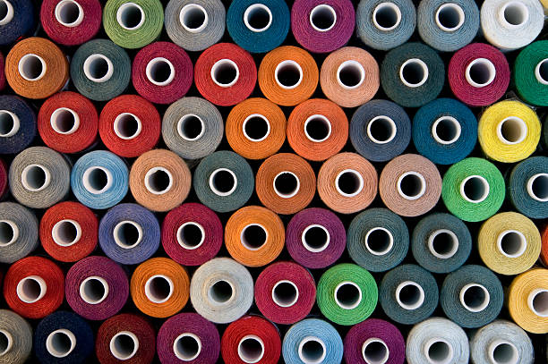 Bobbins background stock photo