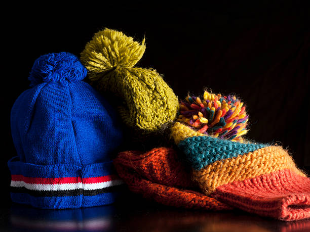 Bobble Hats stock photo